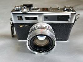 Yashica Electro 35 GS Rangefinder Film Camera Color-Yashinon DX 1:1.7 45... - $24.89
