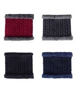 Warm Scarf Men Winter Wool Knitted Collar Thick Neck Outdoor Riding Earf... - £17.96 GBP