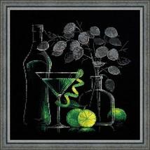 Cross Stitch Kit Riolis Kitchen Flowers Still Life with Martini - $30.80
