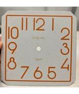 "New Ridgeway Quartz Square Porcelain 6 3/4"" Clock Dial Face - $14.84"