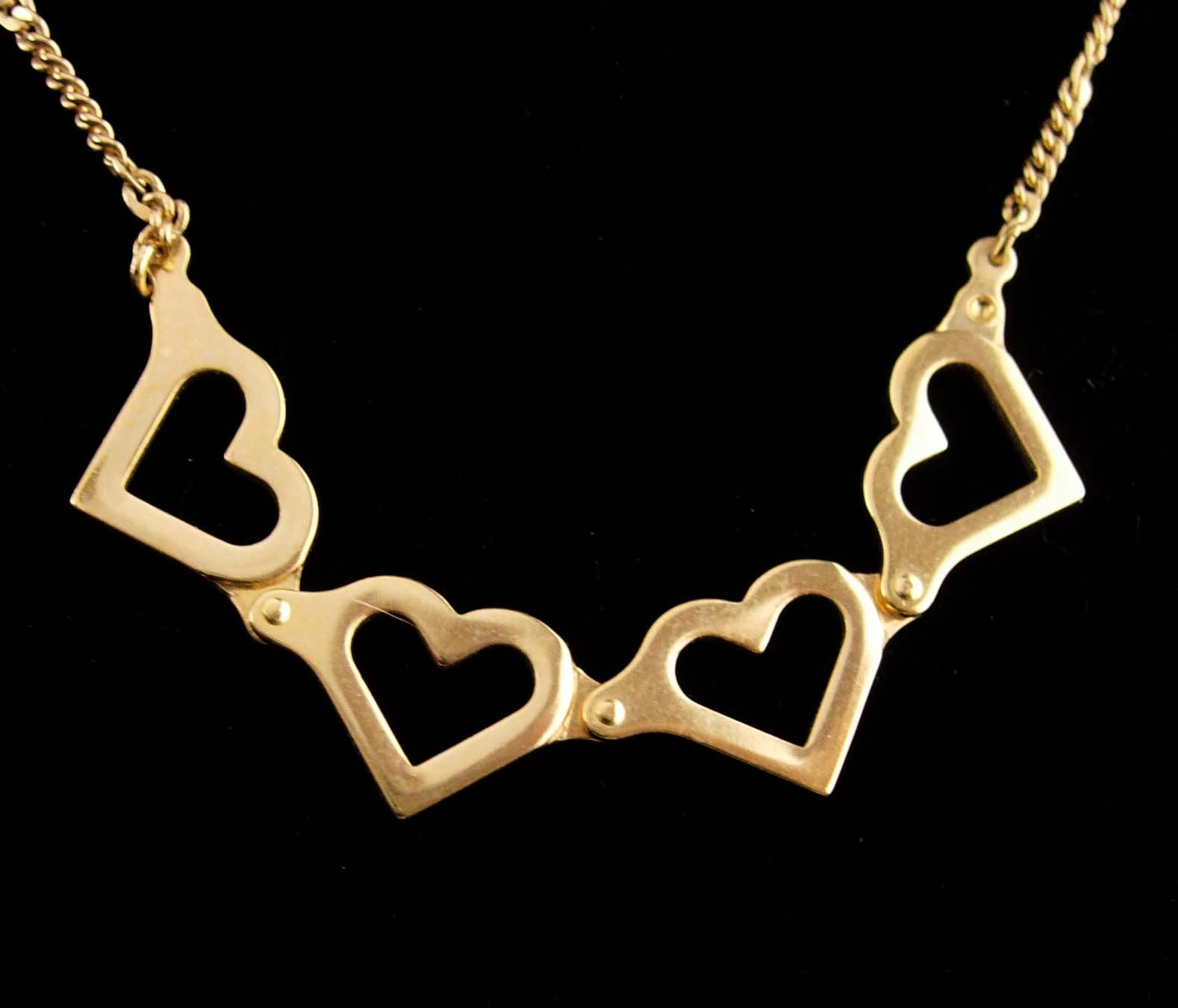 "Primary image for Hinged Heart Necklace - sweetheart jewelry - 20"" chain - valentines gift - gold"