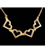 """Hinged Heart Necklace - sweetheart jewelry - 20"""" chain - valentines gift... - $80.00"""