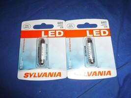 Lot of 2 SYLVANIA 6411 41mm Festoon White LED Automotive Bulb Fits 578 Brand new - $19.79