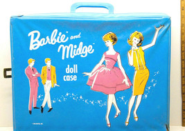 Vintage Mattel 1963 Barbie Midge Doll Case+Bouses+Dresses+Skirts+Playsuits+Cape  - $130.89