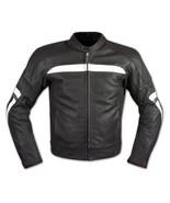 QASTAN Men's New Superb Black Motorbike CE Protectors Leather Jacket QMMJ26 - $159.20+