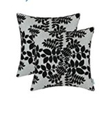 Home Decor 2 Piece Throw Pillow Case Covers 18x18 Black and Gray - $15.88