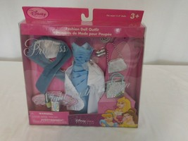 Disney Princess Fashion Doll Outfits Blue Ball Gown Shoe Purse Acce  age... - $17.84