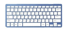 Actto Korean English Bluetooth Slim Keyboard Wireless Compact Tenkeyless (Blue)