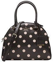 Kate Spade Small Pearl Cedar Street Deco Dot Handbag Crossbody Black Beige - £129.07 GBP