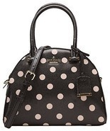 Kate Spade Small Pearl Cedar Street Deco Dot Handbag Crossbody Black Beige - £124.87 GBP