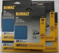 "DeWalt DWAS1440P 5-4 Packs 4½"" x 5½"" 40G Extended Performance Zirconia Sandpaper - $6.93"