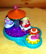Weebles Spinning Merry Go Round Boat & Airplane Ride with Boy & Girl - $7.95