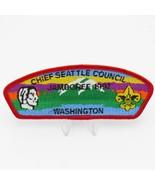 1997 Boy Scout Chief Seattle Council Shoulder Patch BSA Jamboree JSP Red... - $8.38