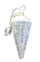 6-sided Lapis pendulum divination scrying tool pagan gemstone - $9.99