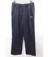 A4929 Mens PUMA Black Baggy SWEATS Sweatpants Athletic MEDIUM Warm Ups - $25.05
