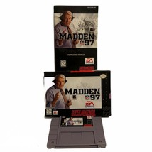 SNES Super Nintendo Entertainment System Madden 97 NFL EA Sports Game CIB EUC - $22.74