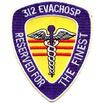 Army 312 Medical Evacuation Hospital Reserved For The Finest Embroidered Patch - $16.24