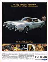 Vintage 1972 Magazine Ad Ford LTD Quiet Is One Reason More People Choose The LTD - $5.93