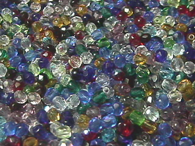 Gold Czech Glass Faceted Beads 4MM 100 Tortoise