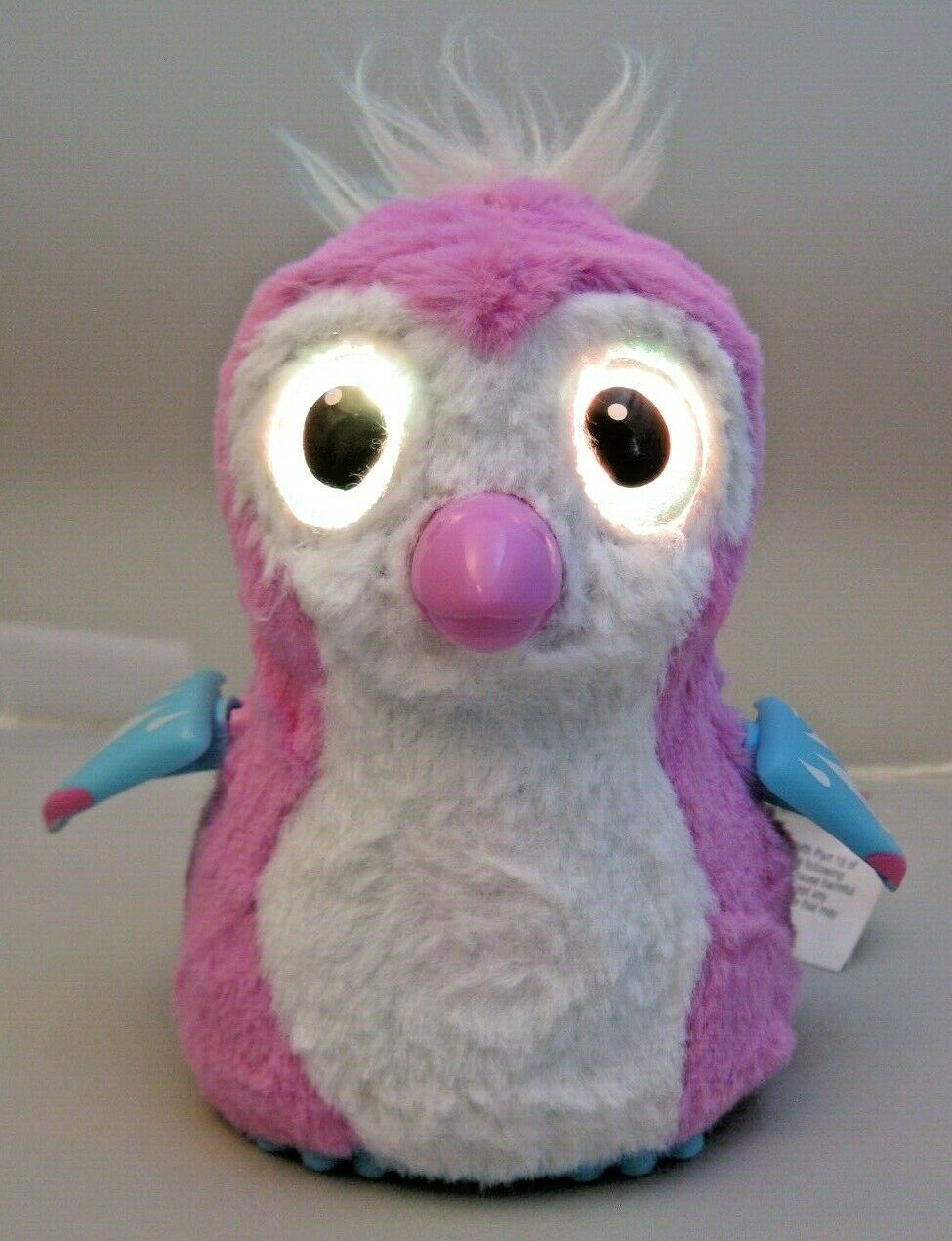 """Hatchimals Owl Bird Pink White Battery Operated Moving Walking Pet Toy Works 5"""" - $11.87"""
