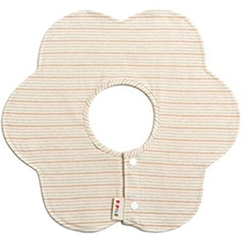 Sided Rotatable Baby Bibs Cotton Baby Bibs(Striped Flower)