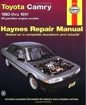 Toyota Camry Haynes Repair Manual (1983 thru 1991) - $19.75