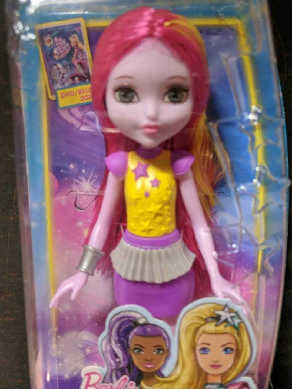 "Barbie Star Light Adventure Chelsea Doll Sprite Alien Pink Hair 6"" Tall MIB"