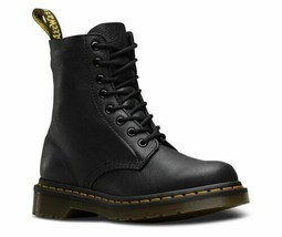 Dr.Martens 1460 Pascal Virginia Leather Soft Flap Eight Holes Black Bord - $194.22+