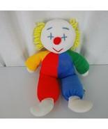 "Vintage Eden 12"" OBO baby clown doll plush stuffed lovey red blue green ... - $79.19"
