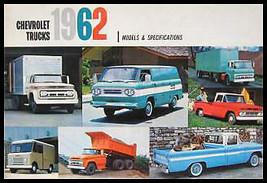 1962 Chevrolet Truck Models & Specifications Brochure - $13.56