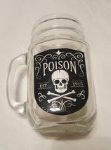 Horror Nerd Block Exclusive Poison Glass Clear Mason Jar Handle NIB Skul... - $6.23