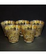 5 (Five) VTG CULVER GLASS VALENCIA Old Fashion Glasses with 24K Trim - $104.49