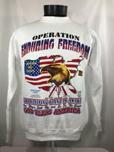 Vintage September 11th Memorial Sweatshirt 2001 Bless Troops Army NYC 9/11 - $29.99