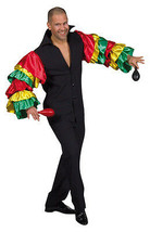 "Rio Carnival / Brazilian  , Tropical Frilled Sleeved Shirt , 38-50"" chest  - $33.12"