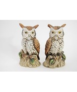 Porcelain Owl Figurines - ARDCO C-3213 - Made in Taiwan - Set of 2 - $29.09