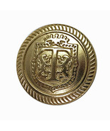 "Talbots Logo Gold tone Metal Sleeve/ Pocket Replacement Button .60"" - $2.86"