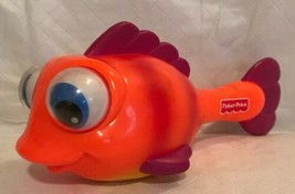 "Vintage Fisher Price Googly Bug Eyes Fish Maraca Rattle Orange 8.5"" Baby... - $14.84"
