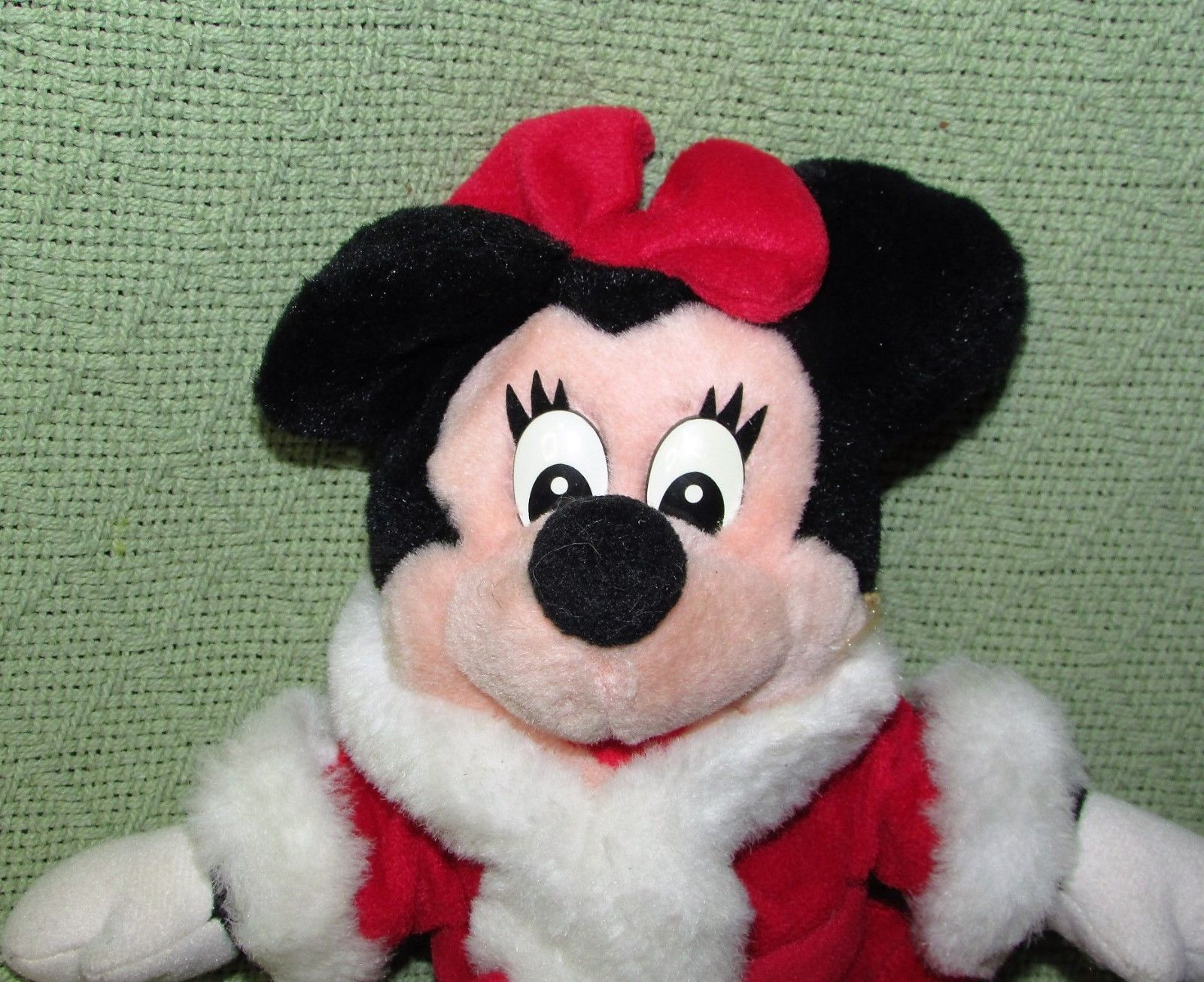 DISNEY STORE BABY Pink Easter Bunny & Mrs. Santa Claus Minnie Mouse Plush Dolls image 8