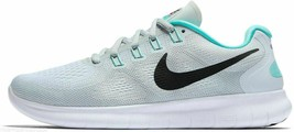 NIKE WOMEN'S FREE RN 2017 SHOES white anthracite platinum 880840 103 - $55.98