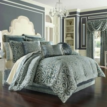 New J. Queen New York Sicily 4 Piece Queen Comforter Set Teal - $296.99