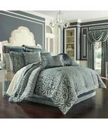 New J. Queen New York Sicily 4 Piece Queen Comforter Set Teal - $296.99