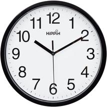 Yoobure 10 Silent Quartz Decorative Wall Clock Non-Ticking Classic Digit... - $14.84
