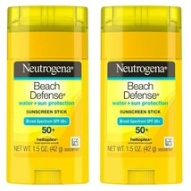 neutrogena beach defense sunscreen stick spf 50+ Lot of 2 - $14.84
