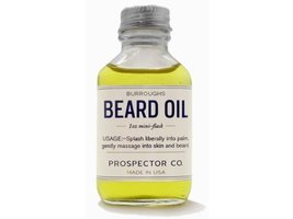 Prospector Co. Beard Oil 1oz Mini Flask by Burroughs image 2