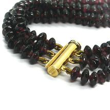 18K YELLOW GOLD THREE WIRES MULTI STRAND NECKLACE WITH DISC GARNET, GOLD SPHERE image 5
