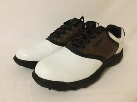 Men's Foot Joy Golf Shoes Brown White Soft Spikes Size 12 M Style 45516 - $44.55