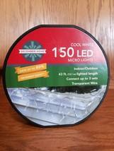 December Home Cool White 150 LED Micro Lights 43 ft Lighted Length NEW - $17.99