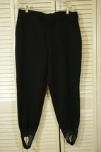 Schoeller Skifans Women's Black Wool Blend Snow Stirrup Ski Pants Leggin... - $31.95