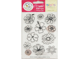 Scrappy Cat Patricia's Garden Clear Stamp Set #SCR511