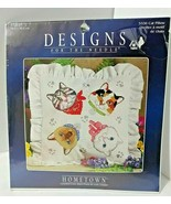 """CAT PILLOW Counted Cross Stitch Kit 12""""x12"""" Siamese Calico Gray Tabby Wh... - $34.60"""